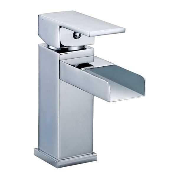 Gallery Contemporary Single Hole Chrome Bathroom Sink Faucet