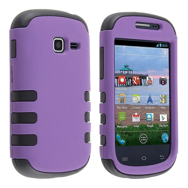 BasAcc Black/ Purple Hybrid Case for Samsung© Galaxy Centura S738C