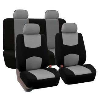 FH Group Grey Full Set Fabric Auto Seat Covers
