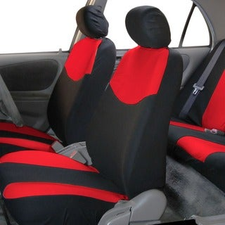 FH Group Red Full Set Fabric Auto Seat Covers