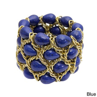 Handmade Saachi Stone Chain Bracelet (China)