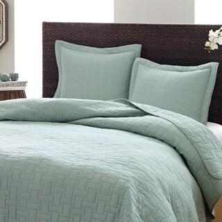 Tommy Bahama Aruba Blue 3-piece Cotton Quilt Set