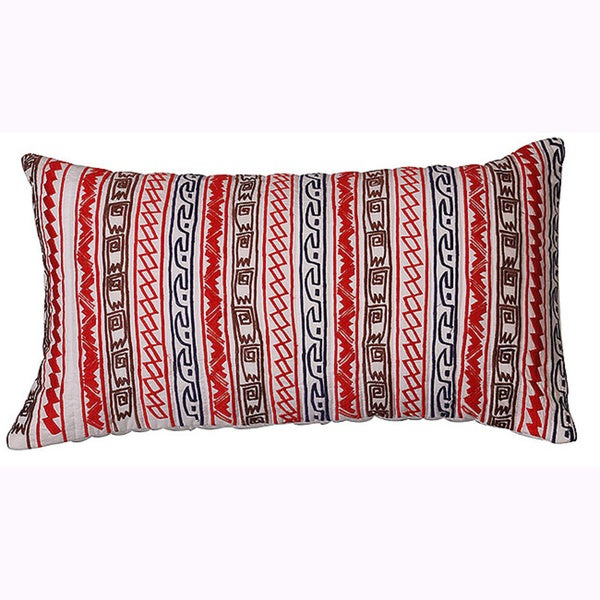 Multi Hand-textured 22-inch Decorative Down Pillow