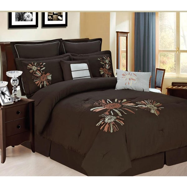 Central Park 8-piece Coffee Luxurious Comforter Set