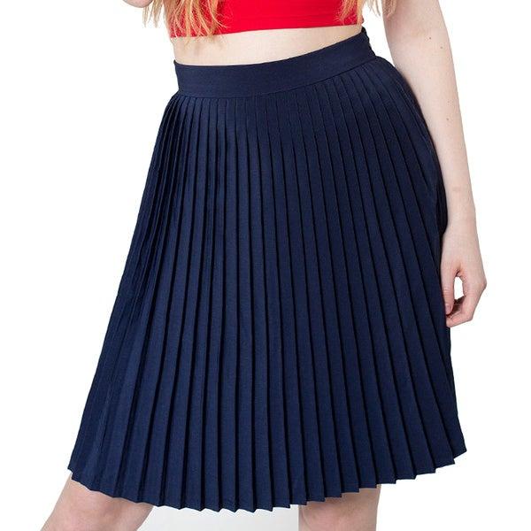 American Apparel Women's Pleated Skirt