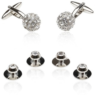 Crystal Ball Cufflinks Set