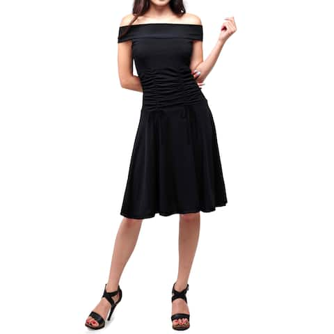 Evanese Women's Off-shoulder Cocktail Dress