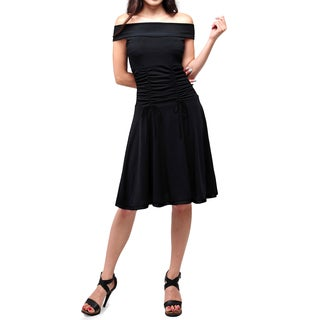 Evanese Women's Off-shoulder Tape Ribbon Cocktail Dress