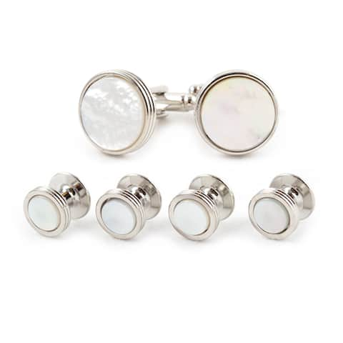 Classic Mother of Pearl Tuxedo Cuff Link Set