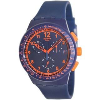 Swatch Men's Originals SUSN401 Blue Silicone Swiss Quartz Watch with Blue Dial