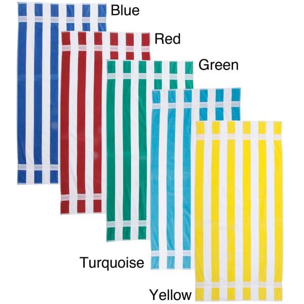 Joey Velour Striped Beach Towel (Set of 2)