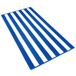 Kaufman Joey Velour Striped Towel. 32 x 62 .Set of 2