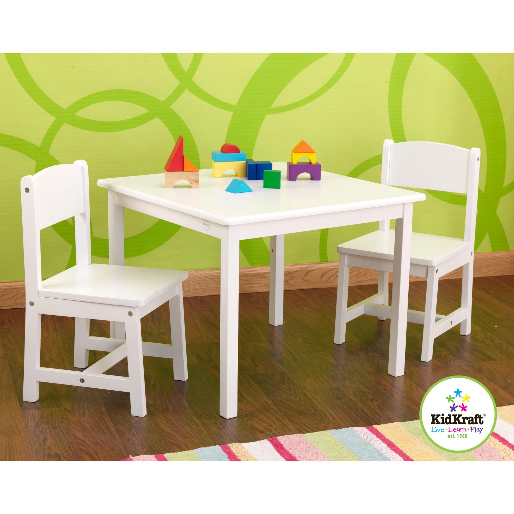 Strange Kidkraft White Aspen Table Chair Set Andrewgaddart Wooden Chair Designs For Living Room Andrewgaddartcom