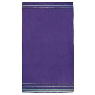 """Kaufman Velour Oversize Beach & Pool Towels Solid Color with Borders 40"""" x 70"""""""