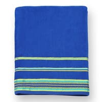 "Kaufman Velour Oversize Beach & Pool Towels Solid Color with Borders 40"" x 70"""