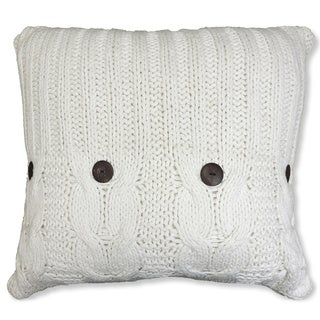 Michaela White Knitted Euro Sham