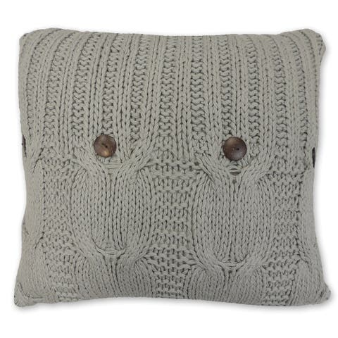 Michaela Gray Knitted Euro Sham