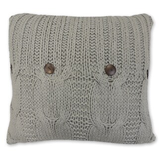 Link to Michaela Gray Knitted Euro Sham Similar Items in Decorative Accessories