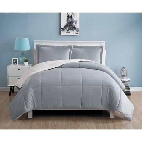 Carson Carrington Aeduvik Micro Mink Sherpa 3-piece Comforter Set