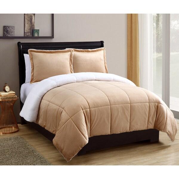 Micro Mink Sherpa 3-piece Comforter Set