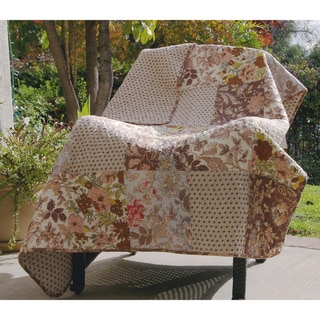 Greenland Home Fashions Camilla Patchwork Quilted Throw