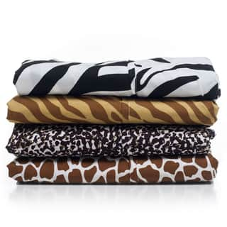 Windsor Microfiber Animal Print 4-piece Sheet Set|https://ak1.ostkcdn.com/images/products/8265012/P15588461.jpg?impolicy=medium