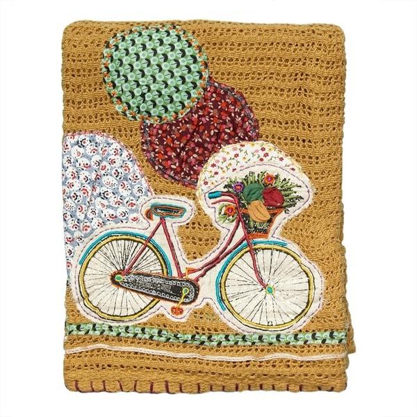 Cute Bicycle Throw Blanket