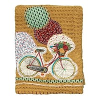 Cute Bicycle Throw Blanket
