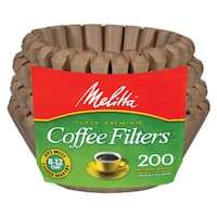Melitta 62957 Natural Brown 8-12 Cup Paper Basket Coffee Filters- 300 Count