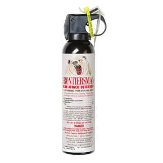 Sabre Frontiersman Bear Spray and Attack Deterrent - 7.9 oz. https://ak1.ostkcdn.com/images/products/8265156/Sabre-Frontiersman-Bear-Spray-and-Attack-Deterrent-7.9-oz.-P15588544.jpg?impolicy=medium