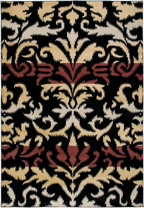 "Rizzy Home Bay Side Collection Power-loomed Accent Rug (6'7 x 9'6) - 6'7"" x 9'6"""