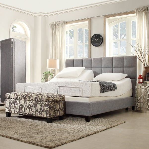 inspire q toddz classic electric adjustable split king size bed base with wireless remote control