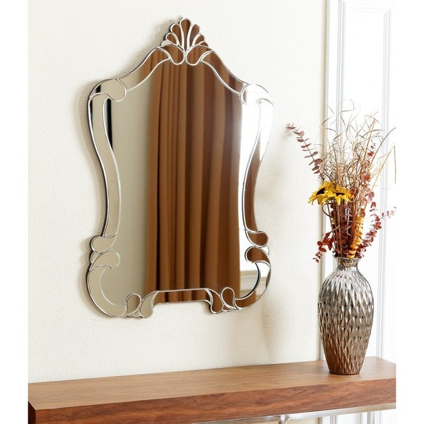 Brown Wall Mirror abbyson valencia wall mirror - free shipping today - overstock
