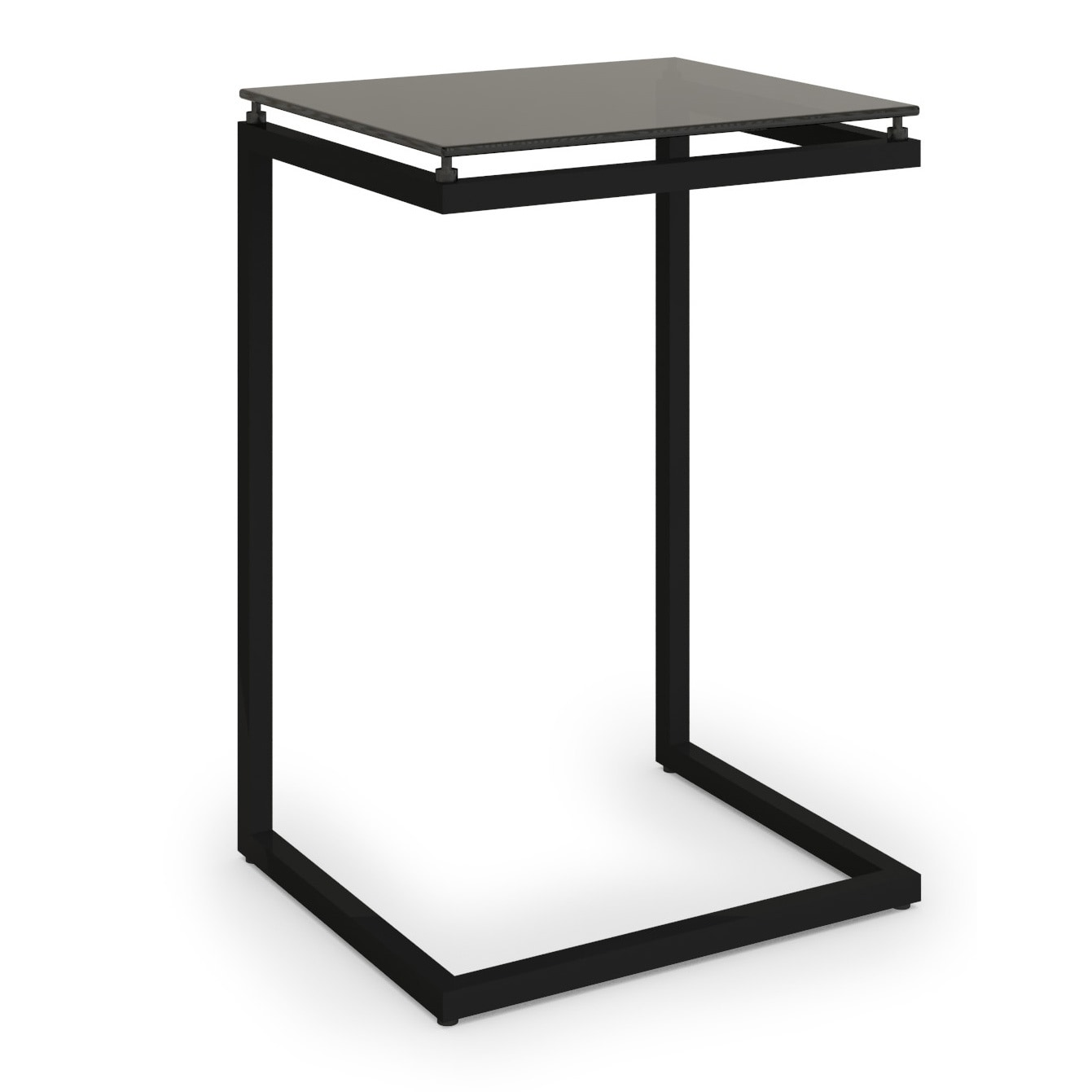 Nice Ameriwood Home Modern Black Glass Top C Table