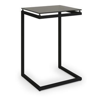 Avenue Greene Modern Black Glass Top C Table