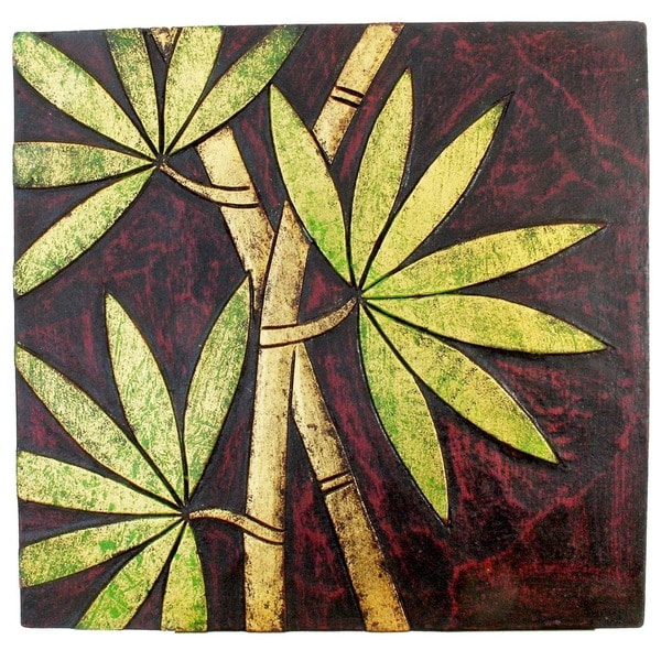 Hand-Carved Bamboo Wall Panel, Handmade in Indonesia - Free Shipping ...