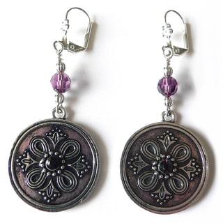 "Palmtree Gems ""Velma"" Medallion Dangle earrings"