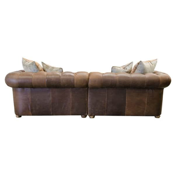 Enjoyable Shop Franklin Leather Grand Sofa Free Shipping Today Forskolin Free Trial Chair Design Images Forskolin Free Trialorg