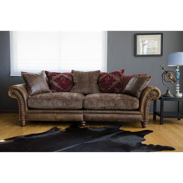 Hudson Leather Sofa Free Shipping Today 80005154
