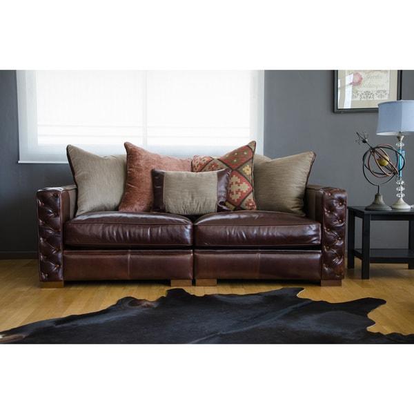 Maxwell Leather Sofa: Shop Maxwell Mocha Leather Sofa