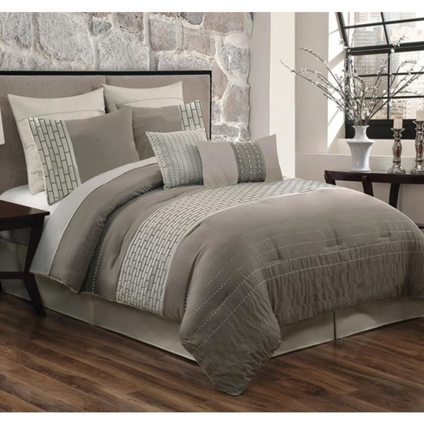 Brick Design 8-piece Comforter Set
