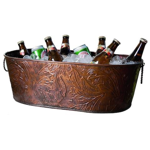 Copper Leaf Obong Tub - 21x12x8""