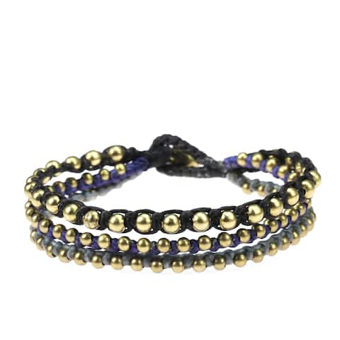 Handmade Strands Silver Beads Jingle Bell Bracelet (Thailand)