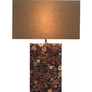 Native Brown Wood Lamp