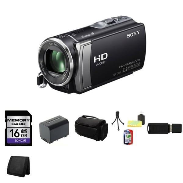 Sony HDR-CX190 High Definition Handycam Black Camcorder 16GB Bundle