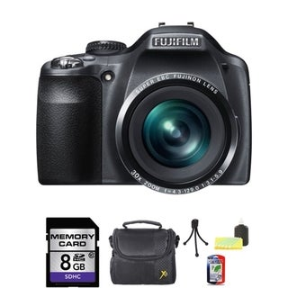 FujiFilm FinePix SL310 14MP Bridge Black Digital Camera 8GB Bundle