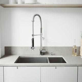 VIGO Endicott Stainless Steel Kitchen Sink and Zurich Faucet Set
