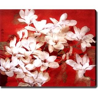 'Lilies' Giclee Canvas Art