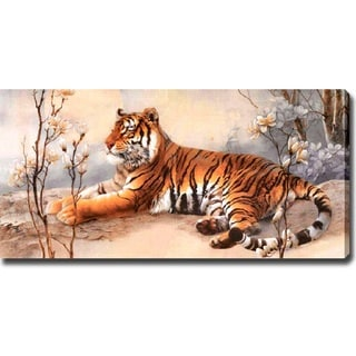 'Tiger' Giclee Print Canvas Art - Multi