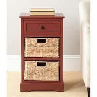 Safavieh Carrie Red Storage Side Table